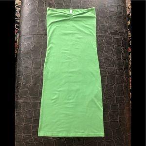 AMERICAN APPAREL green tube/bodycon dress